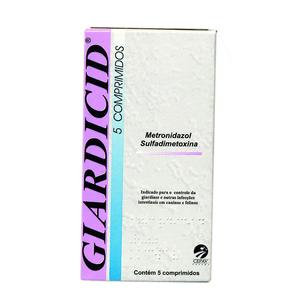 Antibiótico Giardicid 500 Mg - 5 Comprimidos