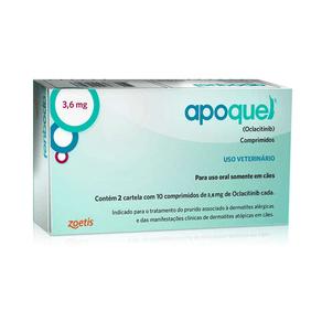 Apoquel Dermatológico Zoetis Para Cães - 3.6 Mg