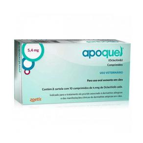 Apoquel Dermatológico Zoetis Para Cães - 5.4 Mg