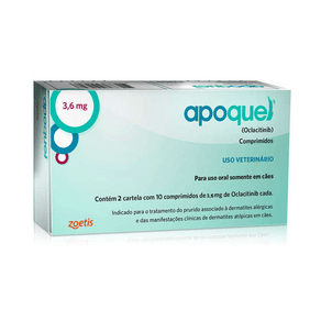 Apoquel Dermatológico Zoetis Para Cães - 16 Mg