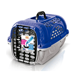 Caixa De Transporte Plast Pet Panther Pop - Azul - Numero 01