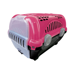 Caixa De Transporte Furacão Pet Luxo - Rosa - Numero 2